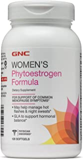 GNC Womens Phytoestrogen Formula, 120 Softgels, Supports Common Menopause Symptoms