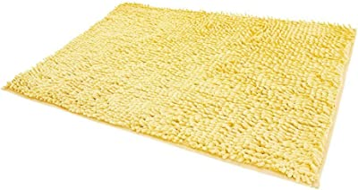 FamyFirst Non-Slip Bathroom Rug Shag Shower Mat Machine-Washable Bath Mats with Water Absorbent Soft Microfibers-Gray, 20 x 32 Inches