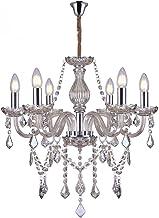 Lustre de Cristal para 6 Lâmpadas E14 Glam Taschibra Conhaque
