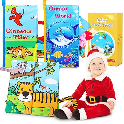 Libros Blandos para Bebé, Suave Libro de Tela Bebé No Tóxicos Libro Activity Bebé Anti-Tear Aprendizaje y Educativo Libro para Bebé Recién Nacido Niños