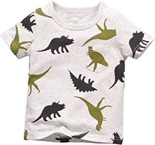 Warmbaby Little Boys Kids Short Sleeve T-shirts