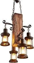 E27 lampa wisząca retro z drewna w stylu vintage, przemysłowa lampa wisząca, kreatywna, antyczna lampa wisząca, loft, do j...