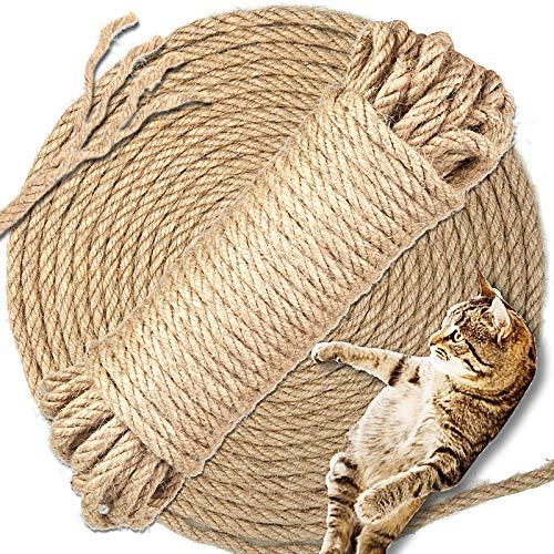 DONQL 15m Katzen Natürlich Sisal Seil Natur Sisal Seil sisalseil Schnur Strick natürliche seile Kratz Hanfseil sisalseil für Katzen Kratzbaum Schutz von Katzenschleifklauenspielzeugen
