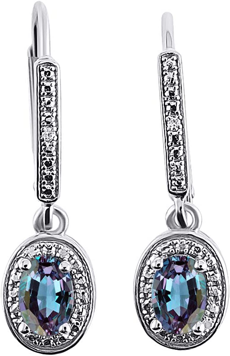 RYLOS Attention brand Earrings For Women 14K Recommended White Diamond Simulated - Gold Al