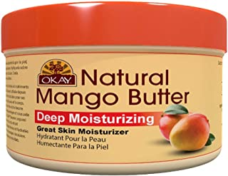 OKAY | 100% Natural Mango Butter | For All Hair Textures & Skin Types | Restores Elasticity & Replenishes Moisture | Deep ...