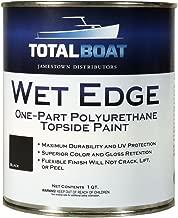 TotalBoat Wet Edge Topside Paint (Flat Black, Quart)