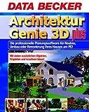 Architektur Genie 3D plus, 2 CD-ROMs Die professionelle Planungssoftware für Neubau, Umbau oder Renovierung Ihres Hauses am PC! Mit vielen zusätzlichen Objekten, Projekten und kreativen Ideen! Für Windows 98/98SE/ME/NT 4(SP6)/2000/XP