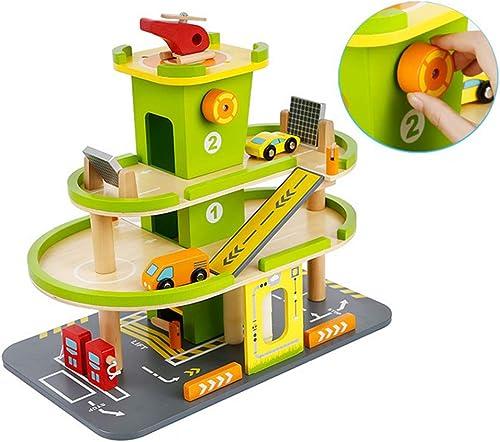Persevering Melody - Toy Größe Auto Spur Spielzeug, Rollenspiel Dreidimensionaler Holz Parkplatz