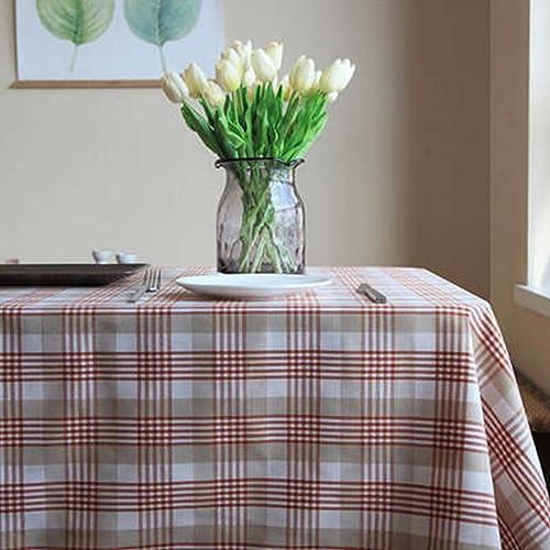 RenShiMinShop Tissu moderne simple à voiturereaux nappe polyester table basse meuble TV table à hommeger couverture de table (Couleur   Orange, Taille   135cm200cm)
