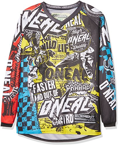 O'NEAL Kinder Jersey Element Wild Youth, Mehrfarbig, Small, 0025W-9