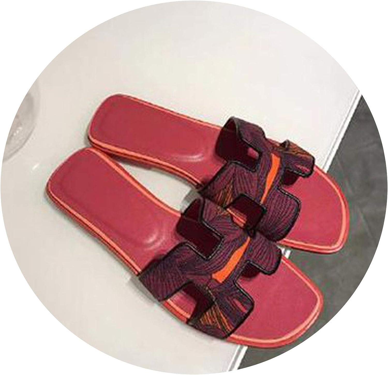 CuriousLady-sandal Genuine Leather Flat Heel Sandals Word Cool Slippers Streetwear Ladies Flip Flop
