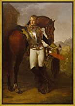 Berkin Arts Framed Antoine Jean Gros Giclee Canvas Print Paintings Poster Reproduction(Baron Antoine Jean Gros Portrait of Second Lieutenant Charles Legrand) #XLK