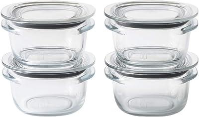 ライクイット (like-it) キッチン収納 調理ができる 保存容器 Sサイズ4個組 クリア FC-030 冷凍保存可 食器洗い乾燥機可