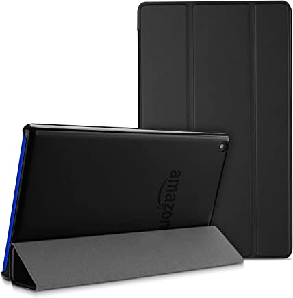 ProCase Amazon Fire HD 8 Tablet Case, Slim Shell Lightweight Folding Stand Case with Translucent Frosted Back Cover for Fire HD 8 (8th /7th /6th Generation, 2018/2017/2016 Release) –Black