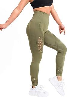 SVOKOR High Waisted Compression Workout Leggings for Women-Hollow Anthletic Gym Legging