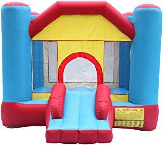 Kcelarec Inflatable Bounce House with Slide, Bounce House Castle Jump and Slide Bouncer with Oxford Mesh Wall, Ideal for Indoor & Outdoor Use