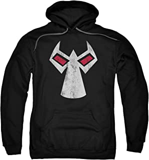 Batman DC Comics Bane Mask Outline Accents Adult Pull-Over Hoodie