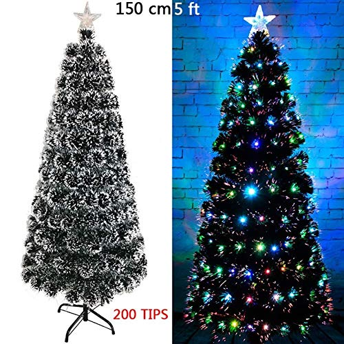 Review LAOHAO Christmas Tree Decoration Fiber LED Lighting, Artificial Christmas Decorations Green F...