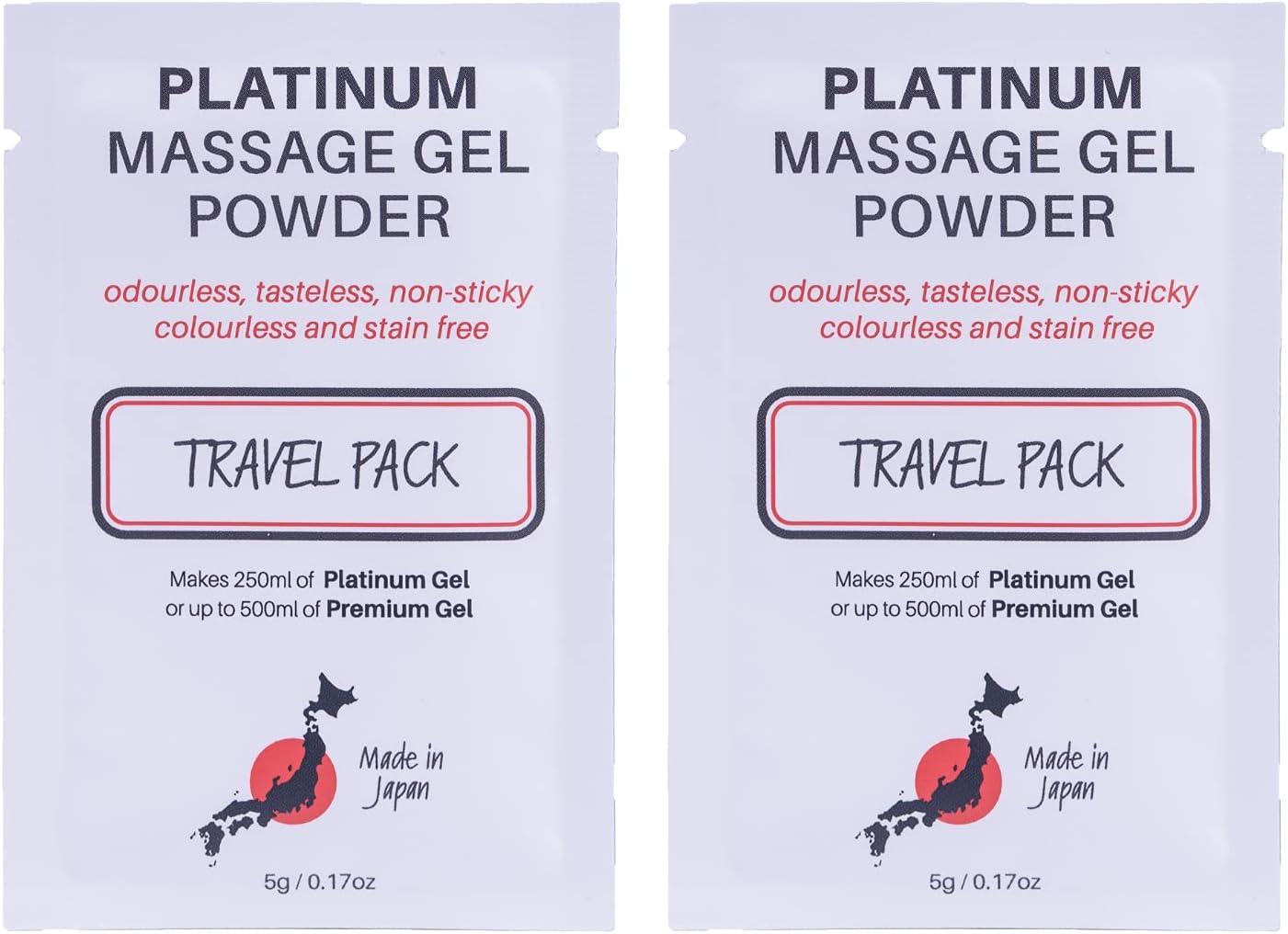 2 x Premium Nuru Massage Minneapolis Mall Gel Ranking TOP12 500 Travel Powder Sachet 5g Makes