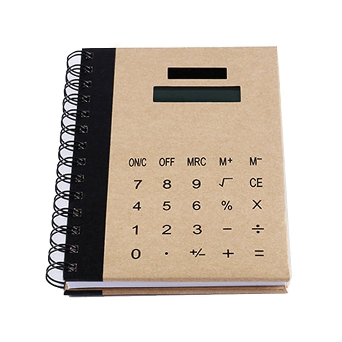 変成器地獄泥Liebeye ノートブック電卓 創造的な多機能ノートブック太陽光発電電卓メモノートブック ブラウン
