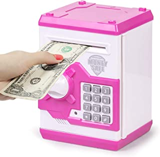Subao Children ATM Piggy Bank Electronic Auto Scroll Money Safe for Kids