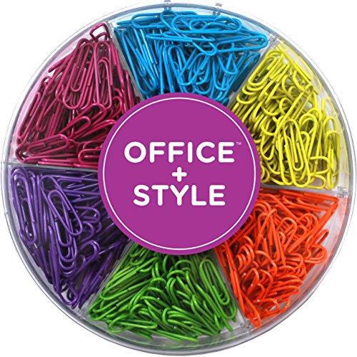 Farbig sortierte Büroklammern, 480 Stück
