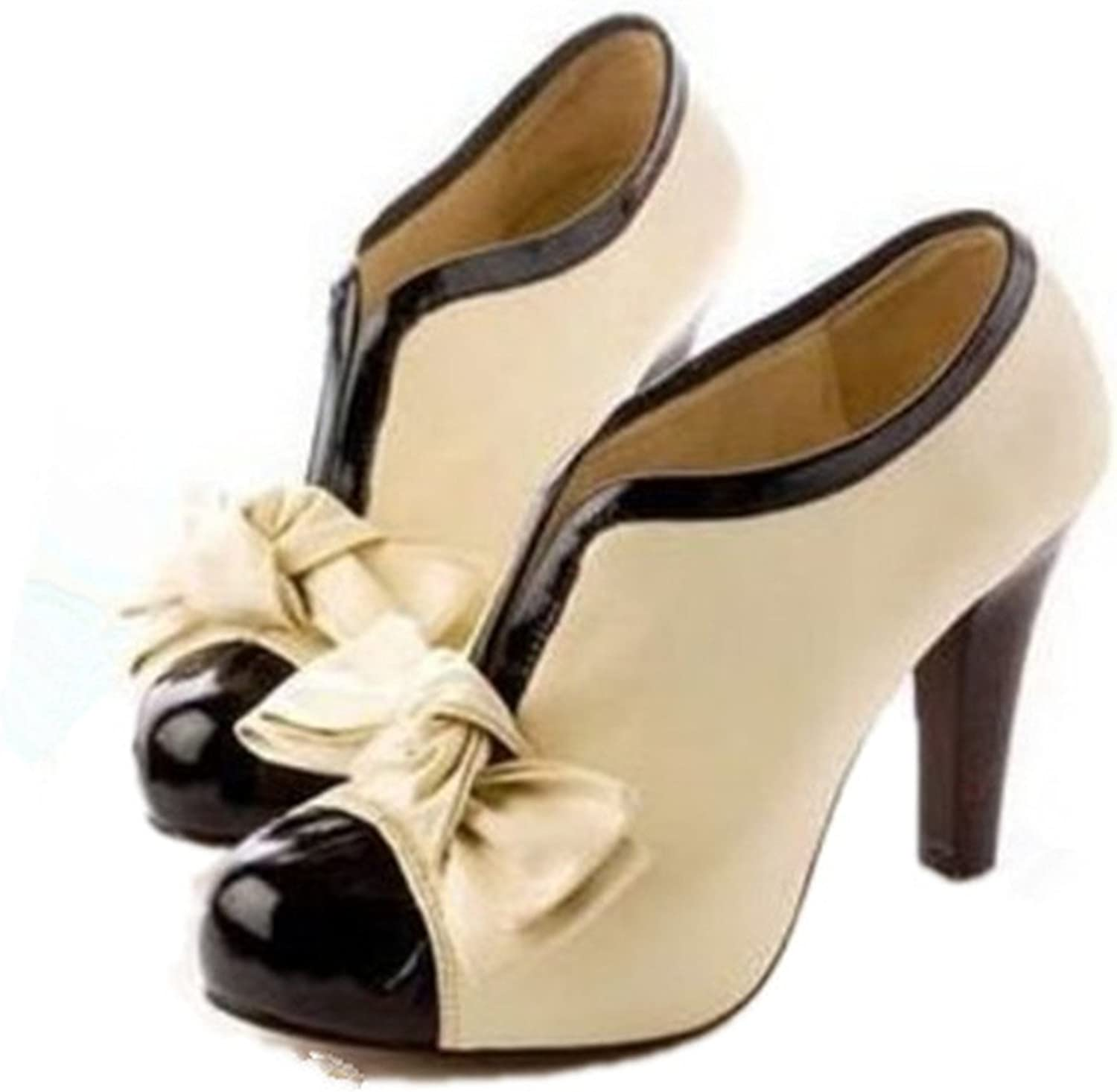 Sville Mary Women Big Size 34-43 High Heels Lady Bowtie Pumps Wedding Party shoes