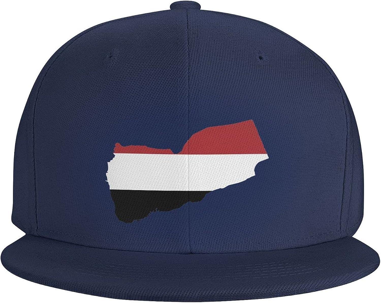Yemen Flag Country of Asia Flat Brim Baseball Hat Cowboy Hat Sun Hat Unisex