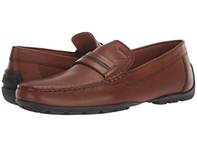 Geox Moner (Dark Cognac Smooth Leather) Men
