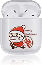Ownest Compatible with AirPods 2,AirPods 1 Case with Christmas Cute Funny Cartoon Character Clear Hard PC Xmas Case for Airpods 2 &1,Fashion Cases for Girls Kids Boys Airpods-Running Santa Claus