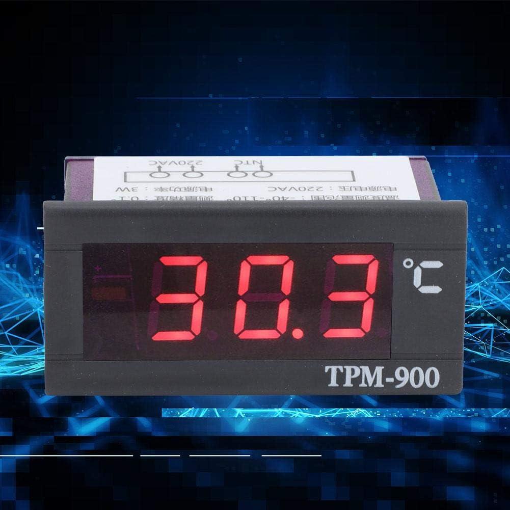 Oumefar Termómetro Medidor -40 ℃ - + 110 ℃ Indicador de Temperatura Mini Panel de Temperatura para Interiores para vitrinas
