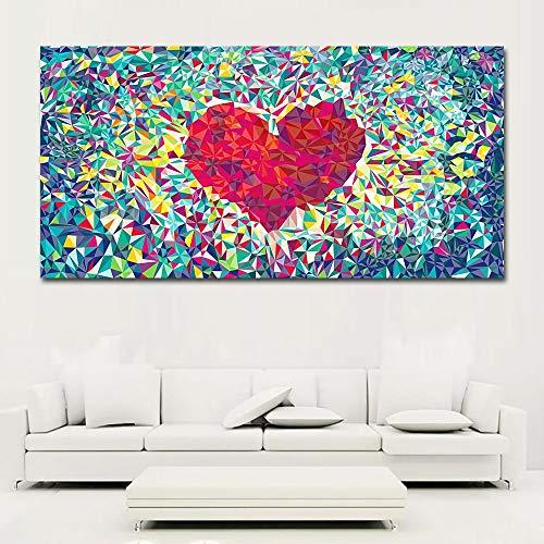 ATggqr Puzzle Adultos 1000 Piezas 50x75cm Flores combinadas en un Arte Abstracto en Forma de corazón Puzzle Rompecabezas para Niños Desarrollar La Paciencia Enfoque Reducir La Presión Rompecabezas