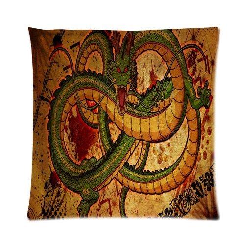 were Custom Comfortable Style Zippered Pillowcase,Dragon Ball Shenron Pillowcase Pillow Cases Covers Standard Cushion Cover Sofa Bed Pillowcases Cover Fundas para Almohada 18x18Inch(45cmx45cm)