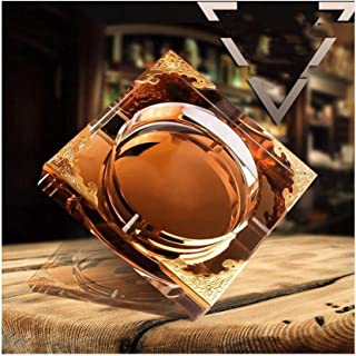 Crystal Glass Ashtray European Multi-Function Ashtray for Bedroom Living Room (Color : Clear, Size : C Models 200mm)
