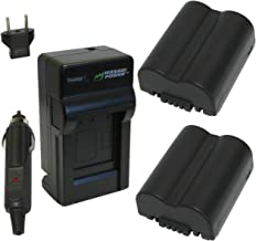 Wasabi Power Battery (2-Pack) and Charger for Leica BP-DC5, BP-DC5-E, BP-DC5-J, BP-DC5-U and Leica V-Lux 1