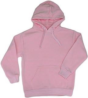 Fresh Idea Living Kids Hoodie Jumper Pullover Basic School Uniform Plain Casual Sweatshirt