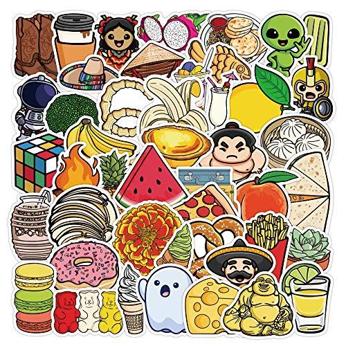 50 Pegatinas de Doodle de Juguete para niños, Maleta Impermeable, portátil, Scooter, Taza de Agua, Pegatinas