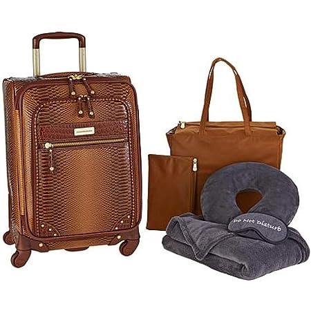 Samantha Brown 26 Spinner Croco Embossed Suitcase Burgundy
