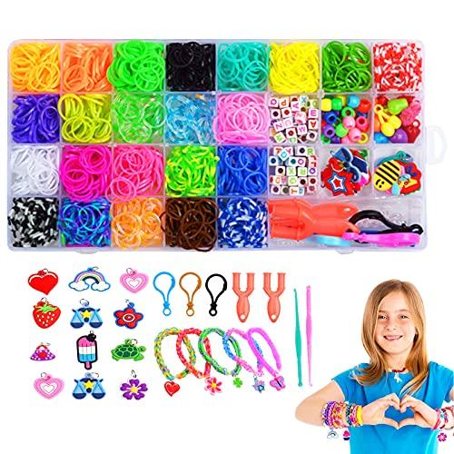 Loom Bänder Set, Loom Bänder Kit, DIY Gummibänder Set , 1500+ Loom Bands Zubehör Rainbow Bänder Starter Kasten Set DIY Basteln Weihnachten Geschenk für Kinder
