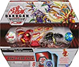Bakugan 6059919 - Juego de 4 Figuras de acción coleccionables Sabra x Pyravian Baku-Gear y Howlkor x Serpenteze