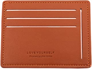 LibraCompany Slim Minimalist Credit Card Holder Front Pocket mini Lovely Leather Wallets for Grils&Women