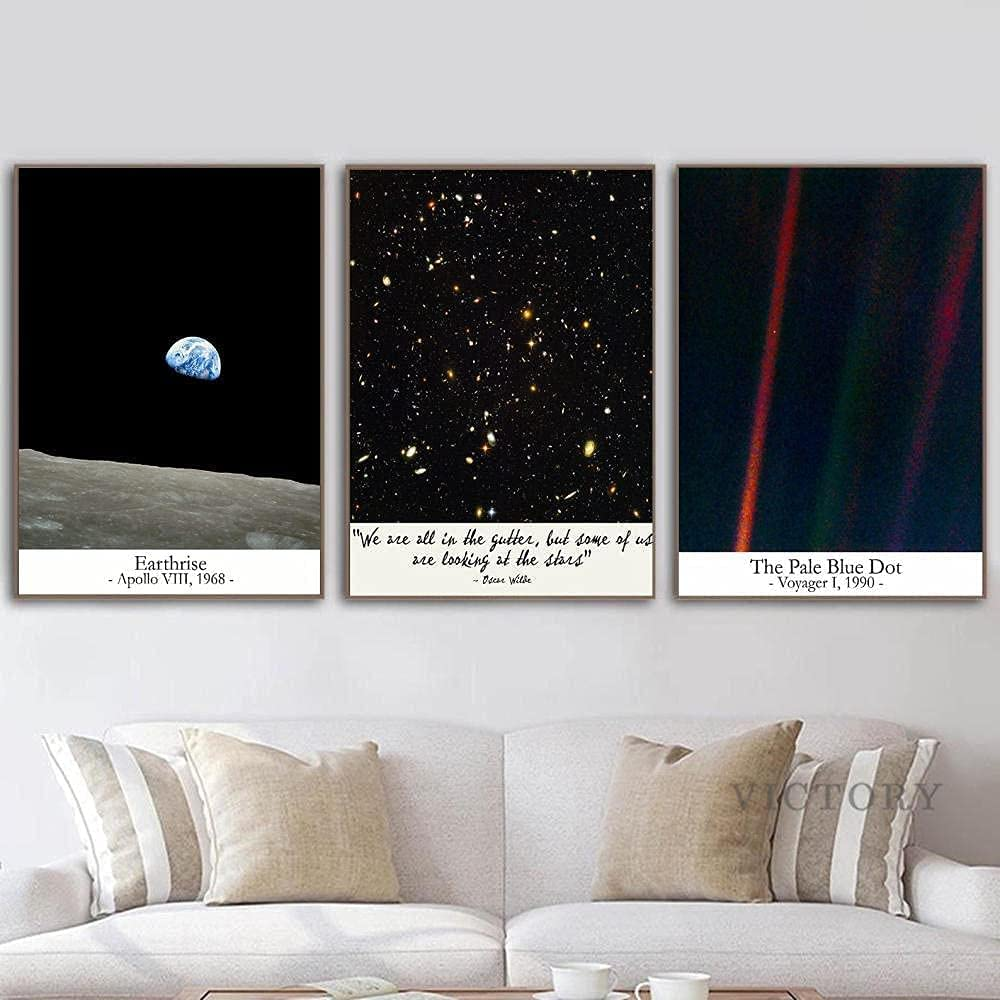 aksldf Looking At The Stars Pale Quote Astronomy Blue New popularity Poster Selling