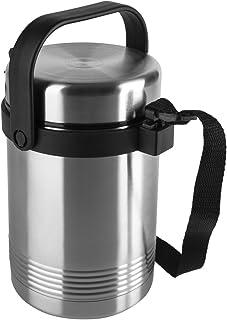 EMSA 504207 SENATOR Isolier-Speisegefäß 1,4 L Edelstahl mit 2 Speiseeinsätzen à 420 ml - hält 6 h heiß - warme Mahlzeit - ...