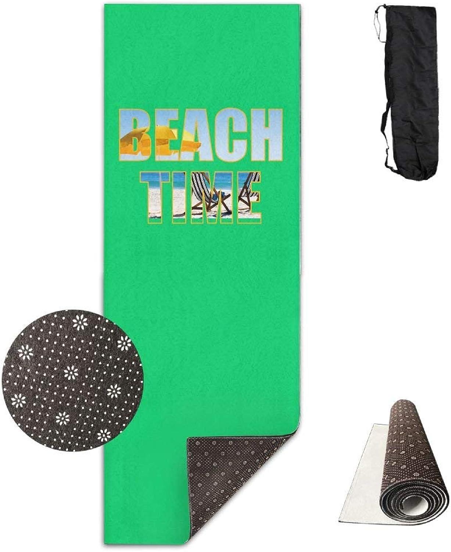 Beach Time Deluxe Yoga Mat Aerobic Exercise Pilates