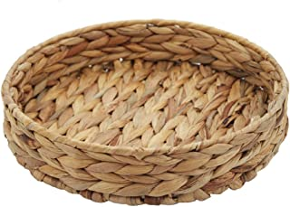 HDKJ Fruit Tray Weaving by Grass, Round Bins for Vegetable, Arts and Crafts. (Large)