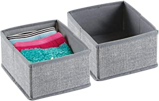 mDesign boite de rangement tissu (lot de 2) – boite de rangement tiroir idéale – utilisation flexible du panier de rangeme...