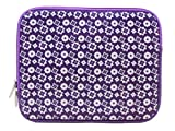 Westgear R-260 10-Inch Carrying Sleeve for iPad/Tablet with Lavender Shurikens Design 150-1272