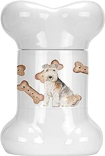 Caroline's Treasures CK2321BSTJ Lakeland Terrier Bone Shaped Treat Jar, multicolor