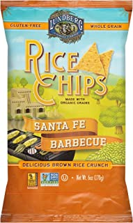 Lundberg Family Farms Rice Chips, Santa Fe Barbeque, 6 Ounce (Pack of 12)