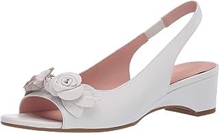 Taryn Rose Women's Slingback Heeled Sandal, WHITE, 6